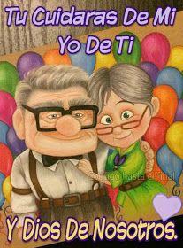 Imagenes, fantasia y color: Amor de pareja. Romantic Ideas For Him, Romantic Love Quotes, Pixar Quotes, Funny Quotes, Husband Quotes, Love Quotes For Him, Up Pixar, I Love You Images, Spanish Inspirational Quotes
