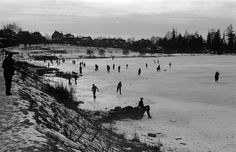 Skaters [on] Lost Lagoon 1930 james crookall Historical Images, Most Beautiful Cities, Vancouver Island, History Facts, British Columbia, West Coast, Travel Photos, Past, The Incredibles
