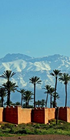 Morocco Travel Inspiration - city walls, marrakech, morocco   travel destinations in africa + fortifications