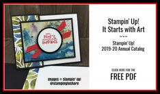 FREE PDF for It Starts with Art Fun Fold card. Fun Fold Cards, Folded Cards, Appreciation Cards, Hand Stamped Cards, Friendship Cards, Thank You Gifts, Cardmaking, Stamping, 3 D