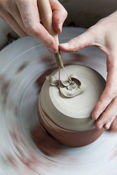 by Nicole Franzen Photography The Potter's Hand, Dom Bosco, Artist Wall, Ceramic Studio, Pottery Wheel, Photo Studio, Studio Photos, Photography Photos, Ceramics