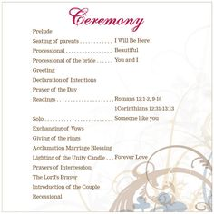 Wedding ceremony outline wedding ceremony outline for Christian wedding ceremony outline