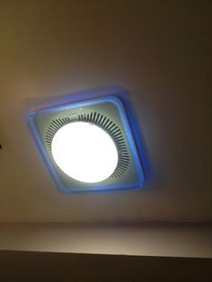 NuTone LunAura Square Panel Decorative White 110 CFM Exhaust Bath Fan With  Light And Blue LED Night Light, ENERGY STAR | Exhausted, Bath And Squares