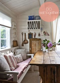 Cool rustic dining room