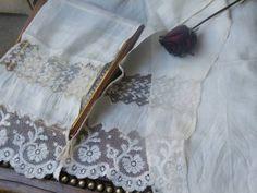 フランスアンティークとても綺麗シルクのレースストール Antique lace ¥4300yen 〆04月24日