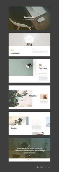Simple Planner Presentation Design Template - Business Planning #powerpoint #portfolio #designportfolio