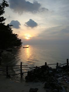 Sunset in Tidung Island, Indonesia.