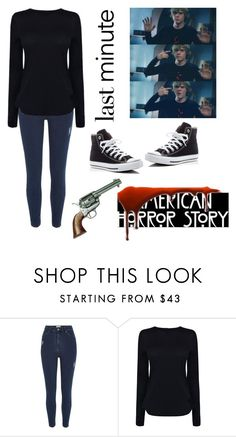 """I only kill people I like."" by sn0wkook ❤ liked on Polyvore featuring River Island, Langdon, Helmut Lang and Converse"