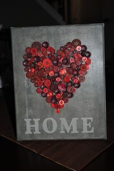 Made this for my best friend's housewarming gift. I painted a canvas with a cement color paint, layered with crackle paint, and covered wi...