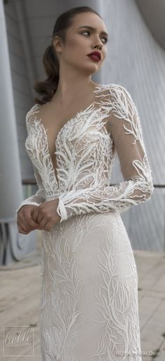 NOYA By Riki Dalal Wedding Dresses Spring 2019 : Forever Bridal Collection - ROSE. Long sleeves plunging sweetheart neckline full embroidered elegant glamorous sheath fitted wedding dress. Backless chapel train sexy modern bridal gown.#weddingdress#weddingdresses#bridalgown#bridal#bridalgowns#weddinggown#bridetobe#weddings#bride#weddinginspiration#weddingideas#bridalcollection#bridaldress#fashion#dressSee more gorgeous bridal gowns by clicking on the photo