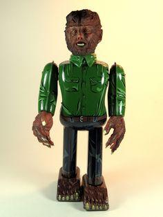 Universal Monsters tin walking toy