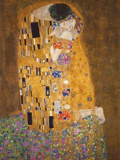 The Kiss (Der Kuss) by Gustav Klimt. Poster The Kiss by Gustav Klimt Art Print Poster Kiss Painting, Painting Prints, Oil Paintings, Abstract Paintings, Art Klimt, The Kiss, Framed Art Prints, Poster Prints, Art Nouveau