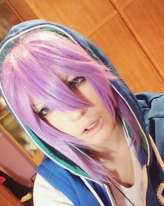 """I can't wait for my Gakupo's wig anymore! Argh So I did this make up test with this short wig u.u"""" Vocaloid Cosplay Hastags: #Gakupo #KamuiGakupo #GakupoCosplay #cosplay #cosplaymakeup #costest #makeuptest #kamuigakupocosplay #vocaloid #gackupoid #vocaloidcosplay #purple #anime #animecosplay #vocaloidboy #otaku #otakucosplay #anime #animecosplay"""
