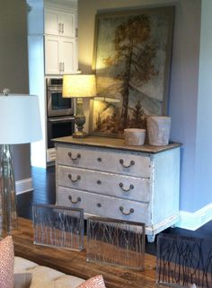 Mirrored Console Arrangement By Op Jenkins Furniture And Design Designer Jessica Wilkerson Opj