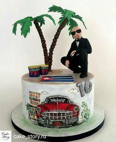 Special Birthday Cakes, Birthday Cakes For Men, 60th Birthday Party, Birthday Celebration, Havanna Party, Havana Nights Party Theme, My Super Sweet 16, Cuban Party, Creative Cakes