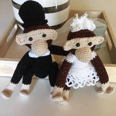 Groom, Crochet Patterns, Crochet Hats, Christmas Ornaments, Monkeys, Holiday Decor, Home Decor, Knitting Hats, Rompers