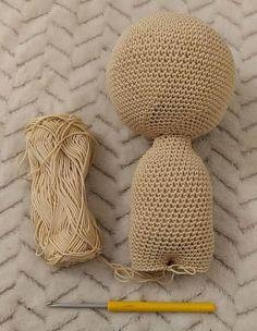 Háčkovaná bábika Anička ~ Tvorím s láskou - by Peťka Straw Bag, Panda, Barbie, Origami, Toys, Crochet, Home Decor, Handmade, Smooth Hair