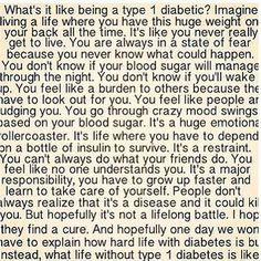 :( This makes me want to cry....This sums up every, thought, emotion Type 1 Diabetics have !