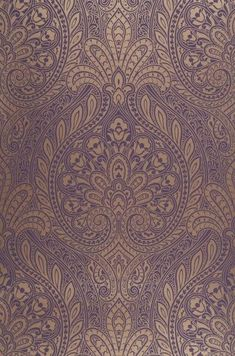 Gold and purple paisley (matching the curtains) living room