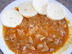 Segedínský guláš v pomalém hrnci Multicooker, Cheeseburger Chowder, Curry, Pork, Meat, Ethnic Recipes, Blog, Kale Stir Fry, Curries