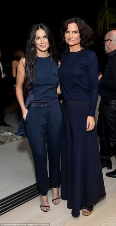 Demi Moore cosies up to daughters Scout and Tallulah at fashion party #dailymail