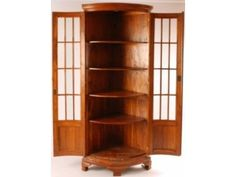 French Bow Front Corner Cabinet