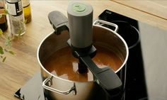 The kitchen gadget that will cause a stir: Device can mix food for you (and promises to leave nothing stuck in the pan) .... Norwegian company Unikia said inspiration for the product came from their love of porridge ...... Efficient: The Stirio can stir a pot of food completely unassisted for 45 minutes
