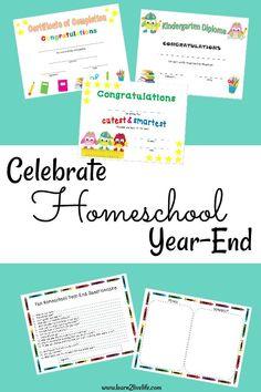 Celebrate Homeschool Year-End
