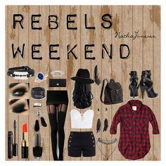 """Rebels Weekend"" by nathajimenez on Polyvore featuring moda, Abercrombie & Fitch, Chloé, Zimmermann, Yves Saint Laurent, Bobbi Brown Cosmetics, OPI, Eyeko, Anine Bing y H&M"