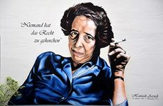 """Hannah Arendt on """"Personal Responsibility Under Dictatorship:"""" Better to Suffer (Even Die) Than Collaborate - Original Art by Artist Hannah Arendt, Joseph Goebbels, Advertisement Images, Freedom Of The Press, German People, Everything And Nothing, Patriarchy, The New Yorker, Amor"""