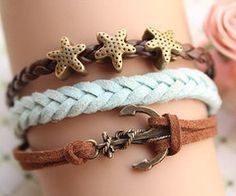 anchors and starfish bracelets