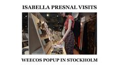 Isabella Presnal visits the sustainable marketplace Weecos' popup shop at Happy Food Store in Stockholm, Sweden. She finds ethically and ecologically made jewelry, clothes, accessories and postcards. Happy Foods, Stockholm Sweden, Popup, Sustainability, Postcards, Store, Coat, Clothes, Shopping
