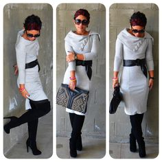 mimi g.: DIY Dress Using V8408 + Thigh High Boots ;-)