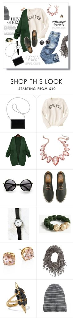 """""""Say What: Statement T-Shirts"""" by kaitlyngertrude ❤ liked on Polyvore featuring Nine West, Gap, WithChic, Thalia Sodi, Dr. Martens, Urban Outfitters, Ann Taylor, Tory Burch, Charlotte Russe and Noir Jewelry"""