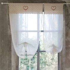 1000 images about brises bise stores rideaux on for Rideaux style shabby