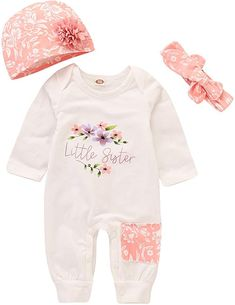 Coming Home Outfit Newborn Onesie Baby Girl Bodysuit with Bonnet Rose Gold Snapsuit Newborn Babygro Baby Hat Romper Baby Shower Gift
