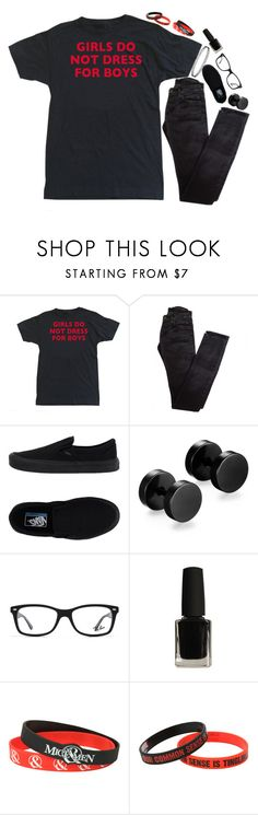 """Shadows will scream that I'm alone"" by xxghostlygracexx ❤ liked on Polyvore featuring Rick Owens, Vans, Ray-Ban, Hot Topic and Marvel"
