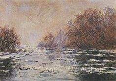Ice Floes Near Vetheuil - Claude Monet