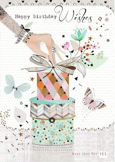 Birthday Quotes : hand-presents-art-jpg Happy Birthday Art, Happy Birthday Wishes Cards, Happy Birthday Celebration, Happy Birthday Beautiful, Birthday Blessings, Birthday Cards For Her, Happy Birthday Images, Birthday Love, Birthday Pictures