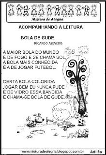 Poema Bola De Gude Com Atividades Atividades De Sala De Aula