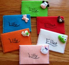 Felt envelope cards, waldorf, montessori pretend play, sweet notes, mail cute letters notes and drawings to friends, reusable, shareable, gifts
