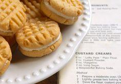 Custard Creams with recipe