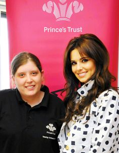 Cheryl Cole visits The Trust's offices to announce that her foundation will be helping disadvantaged young people in Prince's Trust xl clubs in the North East. #cherylcole #princestrust