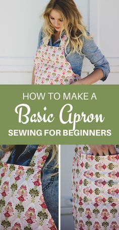 Click now to learn how to make a basic apron in this easy and simple DIY apron tutorial. Such a fun and easy sewing project for beginners, and would make a great handmade gift for women! projects How to Make an Apron - Easy DIY Apron Tutorial Diy Sewing Projects, Sewing Projects For Beginners, Sewing Hacks, Sewing Tutorials, Sewing Tips, Diy Gifts Sewing, Gifts To Sew, Christmas Sewing Projects, Sewing Ideas