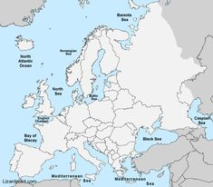 outline map of europe physical Test your geography knowledge - Europe bodies of water Map Quiz, Geography Quiz, Africa Map, North Sea, Baltic Sea, Black Sea, Atlantic Ocean, Trivia
