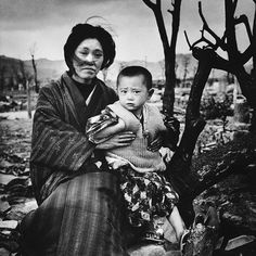 A Mother and child in Hiroshima four months after the atomic bomb dropped. This year marks the 70th anniversary of the bombing of Hiroshima (August 6 1945) and Nagasaki (August 9 1945). (Alfred EisenstaedtThe LIFE Picture Collection/Getty Images) by life