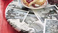 Cover a tray with photos or your family's old Christmas cards for the holidays! A thoughtful #DIY gift idea from Lowe's.