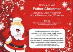 Father Christmas' Grotto NAS Wrexham - EventsnWales | Charity, Join Father Christmas for a Christmas story, while you eat a yummy cookie. Everyone child ....