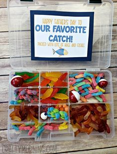 Tackle Box Candy Father's Day Gift - Crafty Morning clever fathers day gifts, diy for fathers day, cards fathers day Box Candy Father's Day Gift - Crafty Morning