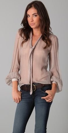 Ruby Grace Shirt by Winter Kate and Lovestory Flare Jeans by J Brand
